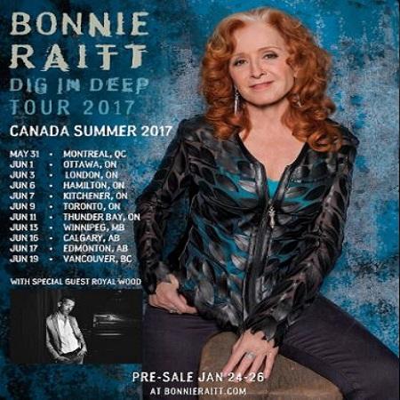 bonnie raitt canada tour